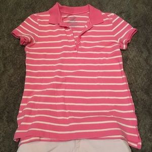 🌸 Pink Striped Polo Shirt 🌸